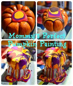 Perfect Painted Pumpkins!!  So easy a preschooler can do it, but so fun the adults will want to do it, too!