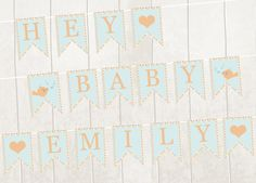 Printable Banner Bunting Pdf New Baby Baby Shower by VeryFairyGood Printable Numbers, Printable Banner, Printables, Etsy Handmade, Handmade Gifts, Alphabet And Numbers, Etsy Crafts, Etsy Jewelry, Cool Diy