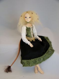 Huldra -- Norwegian Character doll. Doesn't she have a lovely Tail?   I like it ;-D