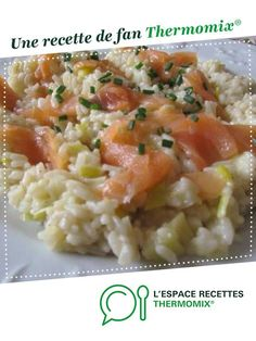 Risotto leek and smoked salmon by Anne Legoupil My cooking simply. A fan recipe to find in the Pasta & Rice category on www.espace-recett …, by Thermomix®. Smoked Salmon Risotto, Healthy Salad Recipes, Vegetarian Recipes, Crockpot Recipes, Soup Recipes, Recipes Dinner, Dinner Crockpot, Smoking Recipes, Risotto