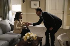 """Pin for Later: This Season of Scandal Is Making Work Suits Look So Good We imagine him saying, """"Tell me where you got this knit! All Black Looks, Fall Looks, Scandal Season 1, Foxy Brown, Jacket Images, Cream Blazer, Olivia Pope, Amal Clooney, Work Suits"""