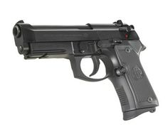 """Beretta 92 Compact: Length: 7.75""""; Height: 5.25""""; Weight Unloaded: 1.975 lbs; Mag Capacity: 13; MSRP: $745; Notes: Not sure how """"compact"""" it actually is. Feels just like a full-sized 92 and is pretty heavy."""