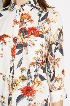 All Sale   Cream Summer floral shirt   Warehouse