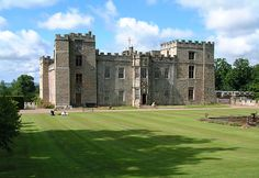 Chillingham Castle, Northumberland, North East England, is being restored by its present owners as a family home open to the public. The castle is famous for its ghosts and a herd of wild white cattle that roam the neighbouring park.