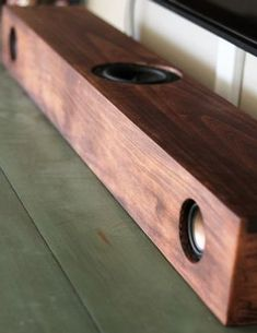 Picture of Powered Rustic Speaker Bar With Bluetooth