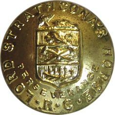 Lord Strathcona's Horse (Royal Canadians) - Military uniform button for sale Buttons For Sale, Canadian Army, Armed Forces, World War Two, Lord, Military, Brass, Horses, Badges