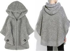 Ideas on how to wear your knitted cape knitted cape patterns « design patterns more BBBQOUB Hooded Poncho Pattern, Knitted Cape Pattern, Cloak Pattern, Poncho Knitting Patterns, Crochet Poncho, Knit Patterns, Hand Knitting, Clothing Patterns, Design Patterns