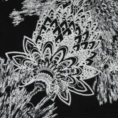 Italian Monochromatic Floral Printed Jersey Knit