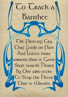 "Book of Shadows:  ""To Track a Banshee."""