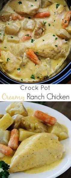 Yummy Crock Pot Creamy Ranch Chicken: