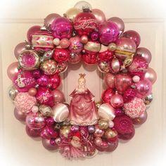 Chic Pink Princess Vintage Ornament Wreath  by SugarPlumWreaths, $300.00