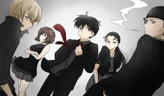 「黒に染まる」/「Naru」[pixiv] sometimes I imagine if they were all in the organization(not NOC or betrayer), whew, ending comes