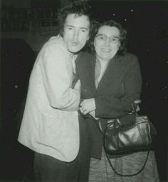 John Lydon and his mum, Eileen (May 1978)