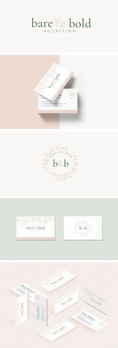 Bare & Bold Nutrition Design. graphic design, branding, logo design, feminine design, web design, blog design, #graphicdesign, #designinspiration, #branding, #logodesign #brandingidentity