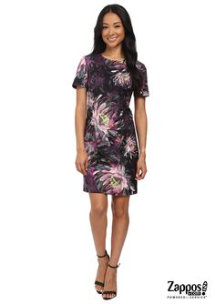 Take on dark garden beauty this season with stylish sophistication in the Trina Turk Natasha Dress. It features a beautiful impressionistic floral bloom pattern on a slim sheath silhouette perfect for the office to a romantic dinner for two.