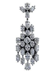 Boucles d'oreilles Montega - Elie Chatila, or blanc, diamants, BOR 800.845