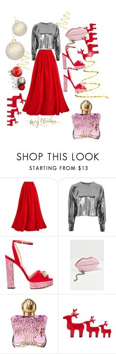 """""""happy holidays"""" by davi30 ❤ liked on Polyvore featuring Reem Acra, Topshop, Gucci, Urban Outfitters, Anna Sui and John Lewis"""