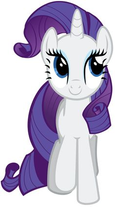 """Rarity Vector - Smile Parade with the Mane 6 from """"A Friend in Deed"""""""