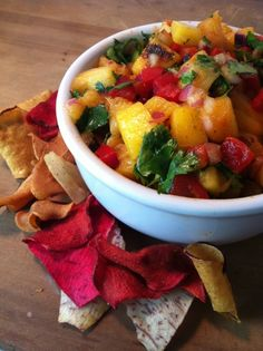 Tequila Lime Grilled FruitSalsa