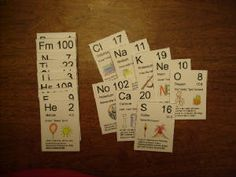 Chemistry cards (free printables) CC CYCLE 3