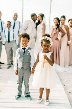 sweet flower girl and ring bearer looks - photo by Finding Light Photography http://ruffledblog.com/key-largo-wedding-with-amazing-orchids-and-hydrangea