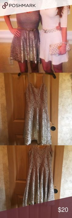 Free people ombré gold dress perfect condition Worn once free people XS ombré Gold dress perfect condition pet free smoke free home no trades Free People Dresses
