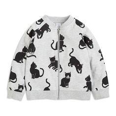 Pehmeä collegetakki, jossa on suloisia kissoja. Girls Dream Closet, Parka, Little Girls, Graphic Sweatshirt, Sweatshirts, Sweaters, Fashion, Moda, Toddler Girls