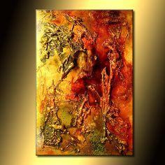 Original Art, Modern Art, Texture Art, Metallic, Abstract Art, Contemporary Painting By Henry Parsinia, 36x24 on Etsy, $600.00