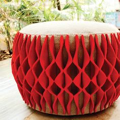 As quirky as it can get! Experiment with fabrics and textures to create stunning pouffes that are hard to miss!