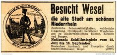 Original-Werbung/ Anzeige 1934 - SCHILLFESTSPIELE IN WESEL - ca. 90 x 45 mm