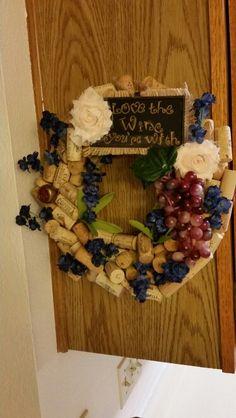 My own wine cork wreath