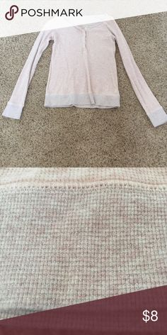 Thermal long sleeve It is blush colored and I've only worn it a hand full of times. The bottom of the short as well as the end of the sleeves have some silver on it American Eagle Outfitters Tops Tees - Long Sleeve
