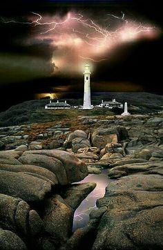 Lightning over Point Hicks Lighthouse, Victoria, Australia