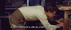 """""""A half-finished book is, after all, a half-finished love affair."""" - Cloud Atlas by David Mitchell"""