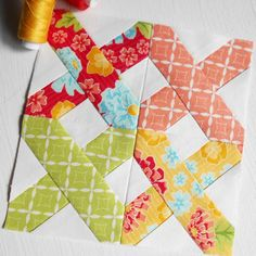 Block 219 - First Stitch. I am changing my fabric choice for the final 30 blocks in The Splendid Sampler. This will make a lovely summer bed runner.