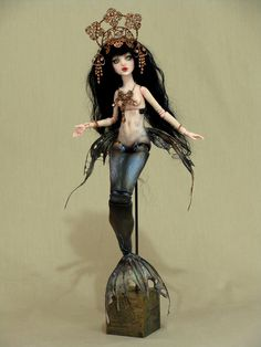 """Baroque Mermaid"" #512 - An artist I really enjoy watching the work of -  'Goddess Dreams - One of a kind Fantasy dolls' by Aidamaris Roman"""