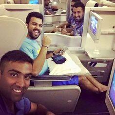 #TeamIndia #WIvsIND    Cheteshwar Pujara   Rohit Sharma and Ashwin Ravi clicks a selfie before leaving to West Indies. - http://ift.tt/1ZZ3e4d
