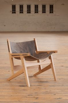 PENINSULA chair || benjamin klebba with matt pierce || PHLOEM STUDIO || usa || domestic hardwoods or ebonized ash + leather