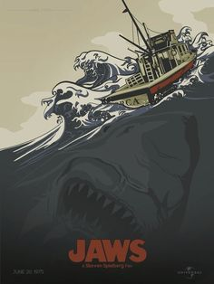 Jaws | 24 Unofficial Movie Posters That Are Better Than The Real Posters