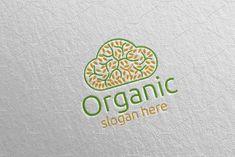 Cloud Natural and Organic Logo 30 by denayunebgt on Organic Logo, Logo Design Template, Sewing Tutorials, Video Tutorials, Background Patterns, Design Bundles, Slogan, Texts, Clouds