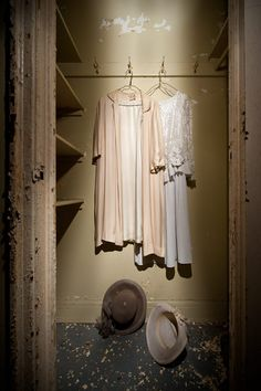 Dresses left behind in a closet at Lee Plaza Hotel, which has sat vacant since the early 90s. The 15-story, Art Deco high rise building has served as a hotel, apartments, and a senior home just prior to closing its doors.