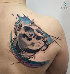 Beautiful Dog Tattoo