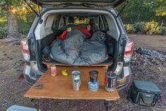 New car camping subaru forester ideas Auto Camping, Camping Hacks, Minivan Camping, Truck Camping, Camping Glamping, Diy Camping, Camping Gear, Camping Cooking, Camping Outfits