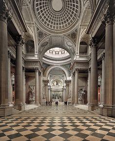 Pantheon, Paris by Ahmet Ertug, 2011 School Architecture, Historical Architecture, Amazing Architecture, Architecture Details, Architectural Association, Architectural Digest, Pantheon Paris, Interior Photography, Landscape Photography