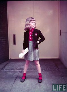 Children's fall fashion from the Life Magazine archives. So adorable!