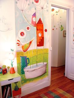 Whimsical Wall art for a kids room or home office