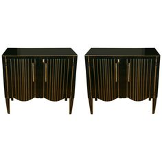 Elegant Pair of Cabinets | From a unique collection of antique and modern cabinets at https://www.1stdibs.com/furniture/storage-case-pieces/cabinets/