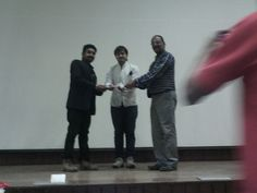 Awarding certificates to the students