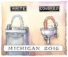 What is happening in Flint, Michigan right now is systemic genocide, and the victims are people of color and poor people. The city's population is 60% Black and 42% of the residents live below the poverty line. They are being poisoned with lead-tainted water that is coming out of their faucets, ...
