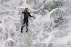 kid surfing the point, #santacruz • elizabeth peartree